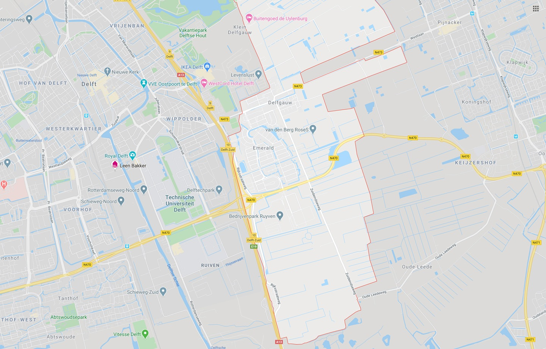 DTDeltax Kaart Delfgauw