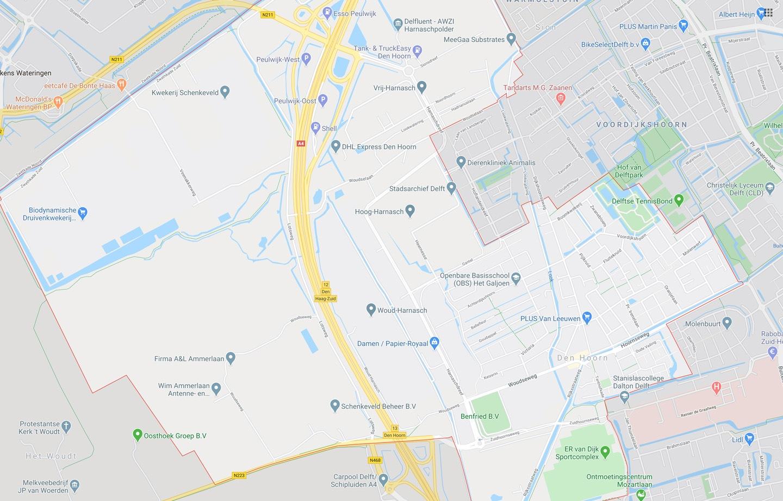DTDeltax Kaart Den Hoorn