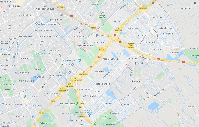 DTDeltax Kaart Leidschenveen Ypenburg