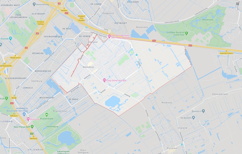 DTDeltax Kaart Nootdorp