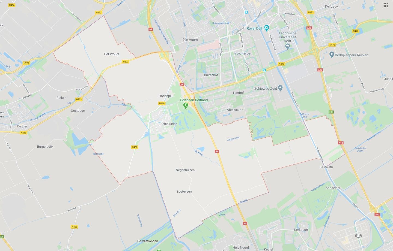 DTDeltax Kaart Schipluiden